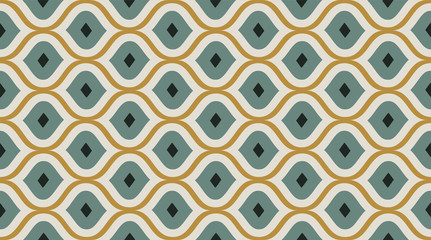Seamless pattern geometric. Delicate beautiful ornament. Geometric fashion fabric print.  Seamless vector pattern.