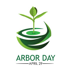 Arbor day stock background. March 21. vector illustration. - Vector