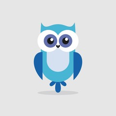 owl illustration isolated on white background