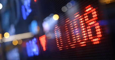 Stock market data display