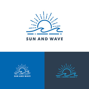 water wave logo templaet, icon vector