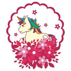 unicorn round icon