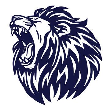 Lion Roar Logo Vector Icon Sports Mascot Template