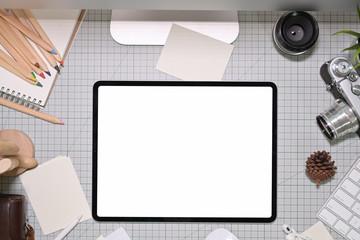Artist creative designer workspace and copy space