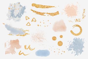 Paint splatter design elements set vector
