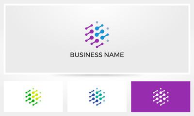 Hexagon Nodes Abstract Logo