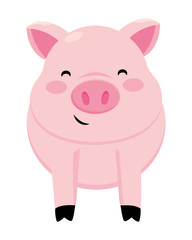 pig smiling icon
