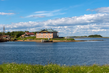 View of the Prosperity Cove on a polar summer day. Solovki Islands, Arkhangelsk region, White Sea.