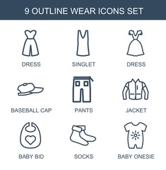 9 wear icons