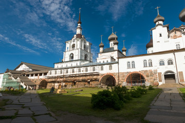 SOLOVKI, REPUBLIC OF KARELIA, RUSSIA - JUNE 27, 2018: In the Spaso-Preobrazhensky Solovetsky Monastery. Russia, Arkhangelsk region, Primorsky district, Solovki
