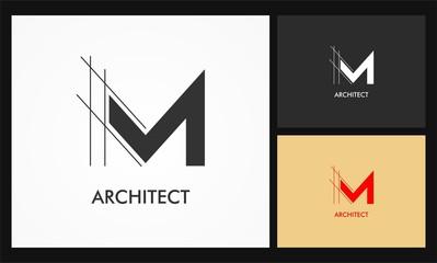 m architect vector logo Wall mural