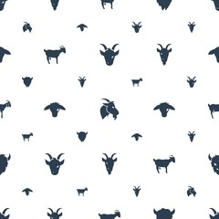 goat icons pattern seamless white background