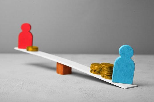 Gender discrimination and gender pay gap. Gender inequality.