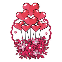 love valentines heart balloons