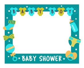 baby shower frame boy photo booth props