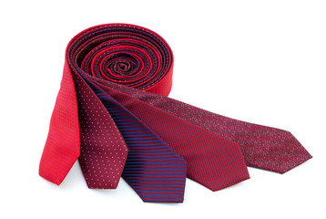 Rolled red ties