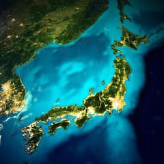 Wall Mural - Japan space map