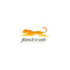 Tiger logo - fast cheetah - leopard vector
