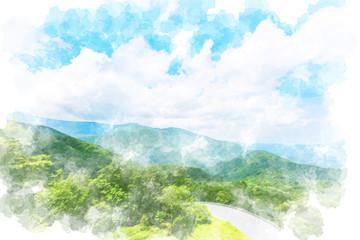 夏のいろは坂 View at Irohazaka