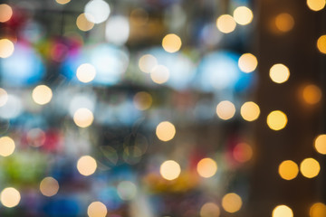 abstract uneven bokeh, garlands of different colors