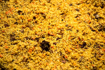 Background of cooked rice yellow