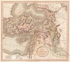 1801, Cary Map of Turkey, Iraq, Armenia and Sryia, John Cary, 1754 – 1835, English cartographer