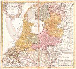 1748, Homann Heirs Map of Holland, Netherlands