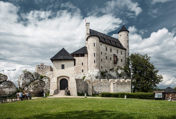 A renovated and old medieval castle.