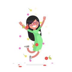 Cute people celebrating - Vector illustration