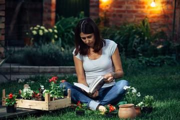 woman with her seedlings in garden