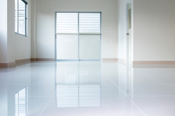 rflection ground empty inside of new city home