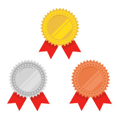 Medals vector set isolated