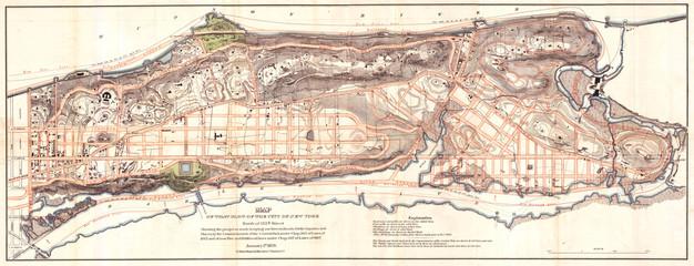 Knapp Map of Northern Manhattan, New York City, Harlem, Washington Heights, Inwood