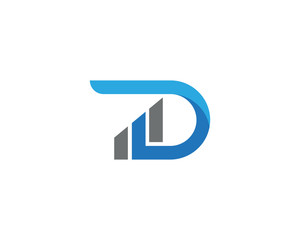 D Letter Business Finance Logo template