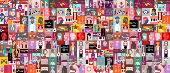 Autocollant pour porte Art abstrait Pop art vector design