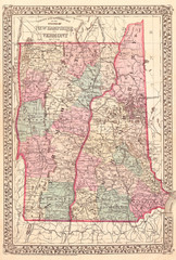 1877, Mitchell Map of Vermont and New Hampshire