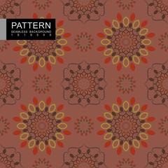 seamless old type pattern with mandala