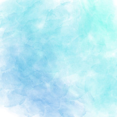 Blue vector watercolor background