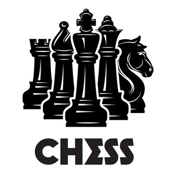 Vector monochrome pattern on chess theme with chess and checkmate