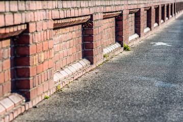 brick wall perspective