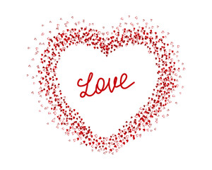 Pattern with hearts. Valentine's day background. Love.Vector illustration