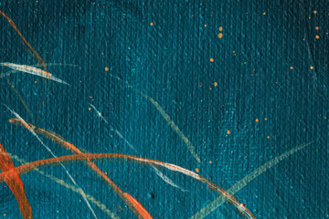 Under the water. Smears. Drops. Oil painting. acrylic. Abstraction. Background