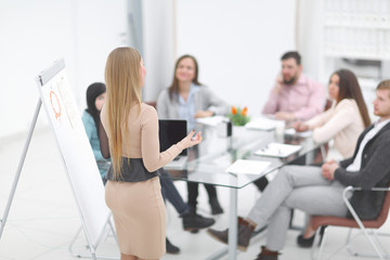 background image of the working meeting in the office