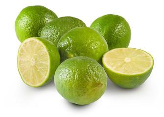 Fototapete - isolated image of lemons close up