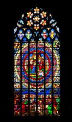 Guérande. Vitraux de la collégiale Saint Aubin. Loire-Atlantique. Pays de Loire