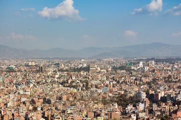Landscape of Kathmandu city valley