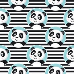 Little Panda Seamless Pattern