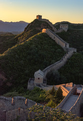 Photo sur Aluminium Muraille de Chine Great Wall of China at Sunset