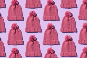 Knit winter hat