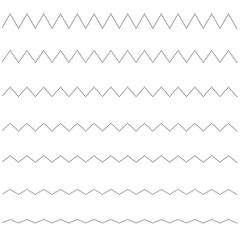 Set of seamless lines dots zigzag. Graphic design elements.